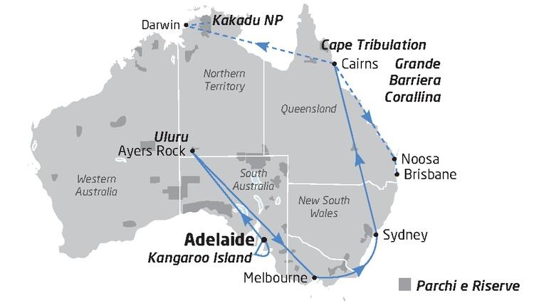 Mappa Australian Explorer Australia