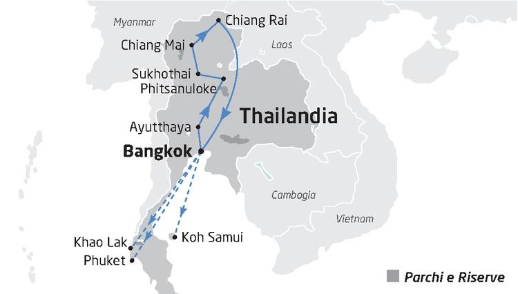 Tailandia Mappa